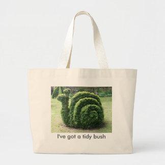 Bolsa Tote Grande I've obteve um arbusto arrumado. Saco do caracol