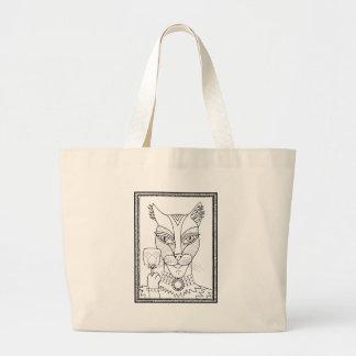Bolsa Tote Grande Linha arte Design.pd do pirulito do rato do