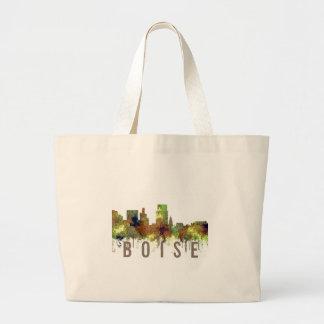 Bolsa Tote Grande Lustre do safari da skyline de Boise Idaho
