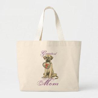 Bolsa Tote Grande Mamã do coração do Wolfhound irlandês