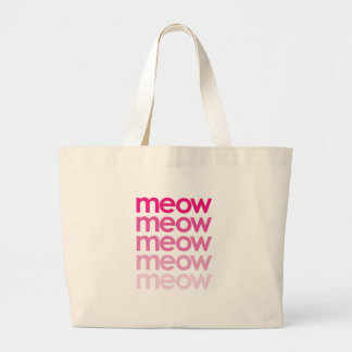 Bolsa Tote Grande meow do meow do meow do meow