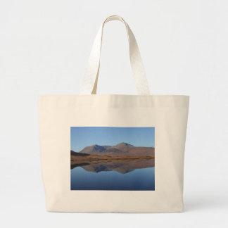 Bolsa Tote Grande Montagem preta, as montanhas, Scotland