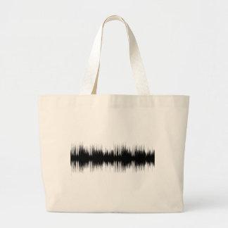 Bolsa Tote Grande Música auricular audio Recording.pn musical da