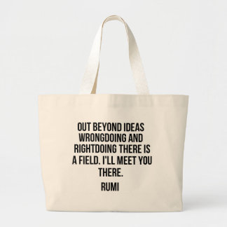 Bolsa Tote Grande Para fora além das ideias… Rumi