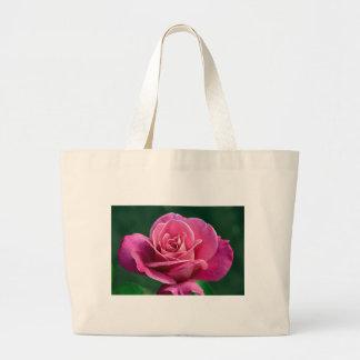 Bolsa Tote Grande Rosa de chá híbrido cor-de-rosa