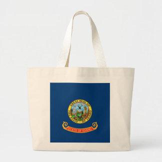 Bolsa Tote Grande Saco com a bandeira do estado de Idaho - EUA