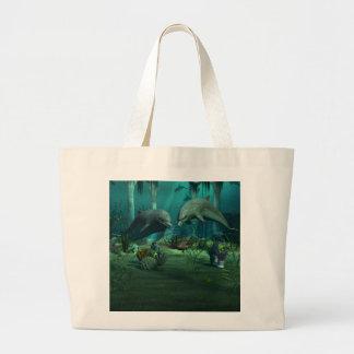 Bolsa Tote Grande Saco dos golfinhos