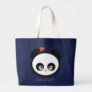Bolsa Tote Grande Sacola do jumbo de Panda® do amor