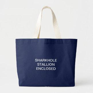Bolsa Tote Grande Sacola incluida do garanhão de Sharkhole (escura)
