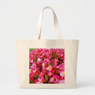 Bolsa Tote Grande Sensação cor-de-rosa da begónia,
