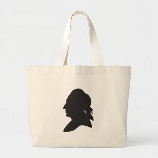 Bolsa Tote Grande silhueta de Goethe