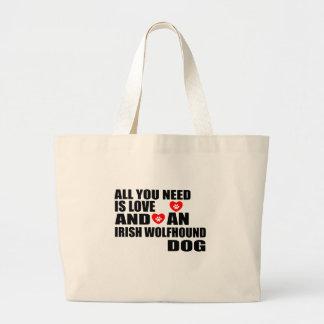 Bolsa Tote Grande Tudo você precisa o design dos cães do WOLFHOUND