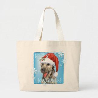 Bolsa Tote Grande Wolfhound irlandês feliz de Howlidays