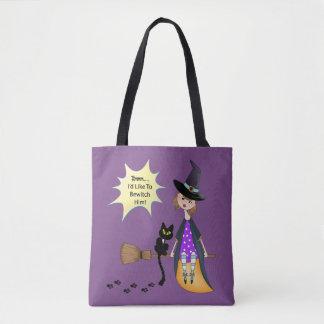 Bolsa Tote Hmmm, eu gostaria de bewitch o - bruxa e gato