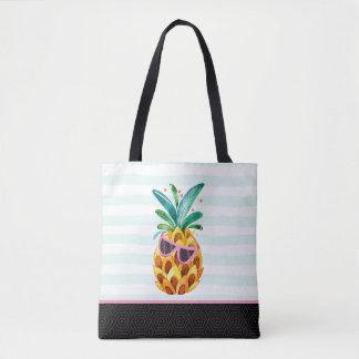 Bolsa Tote Ilustração bonito do abacaxi das aguarelas