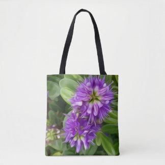 Bolsa Tote Ilustração da flor de Hebe em uma sacola