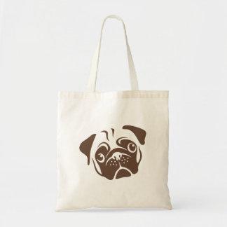 Bolsa Tote Ilustração do Pug