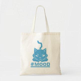 Bolsa Tote Ilustração dos desenhos animados do gato azul do