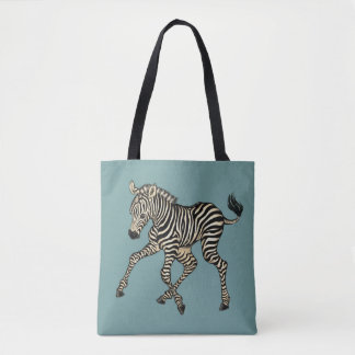 Bolsa Tote ilustrações da zebra e da jovem corça