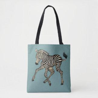 Bolsa Tote ilustrações da zebra e da raposa