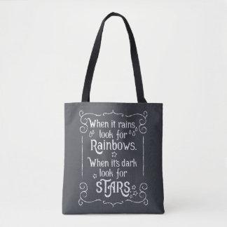 Bolsa Tote Inspiração quando chover e sacola escura