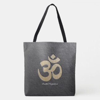 Bolsa Tote Instrutor da mediação da ioga do símbolo de OM do