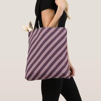 Bolsa Tote Listras cor-de-rosa escuras diagonais