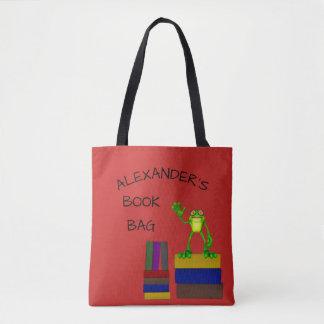 Bolsa Tote Livro de leitura bonito do sapo
