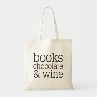 Bolsa Tote Livros chocolate & sacola do vinho