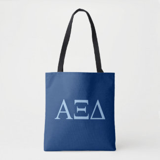 Bolsa Tote Logotipo grande de Lil do delta do alfa Xi