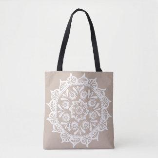 Bolsa Tote Mandala de lãs