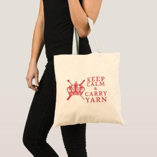 Bolsa Tote Mantenha artesanatos do fio do carregar/logotipo