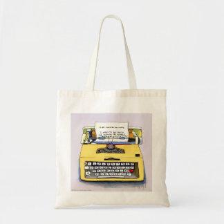 Bolsa Tote Máquina de escrever amarela subtil