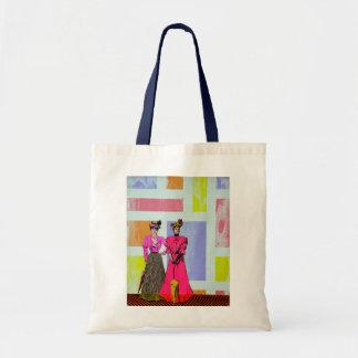 Bolsa Tote Meninas de Gibson em um teste padrão de Mondrian