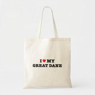Bolsa Tote Mim coração minha sacola de great dane