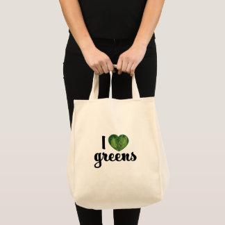 Bolsa Tote Mim sacola do mantimento de verdes do coração