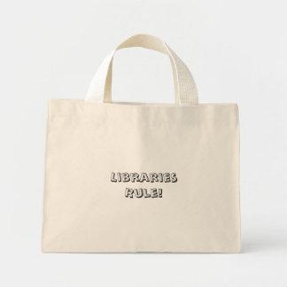 Bolsa Tote Mini Regra de bibliotecas! Totebag
