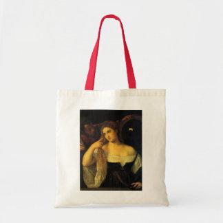 Bolsa Tote Mulher com um espelho por Titian, renascimento do