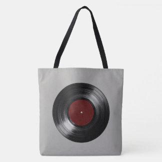 Bolsa Tote música retro do registro de vinil