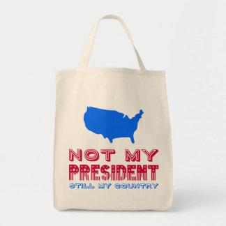Bolsa Tote Não meu azul vermelho do presidente Ainda Meu País