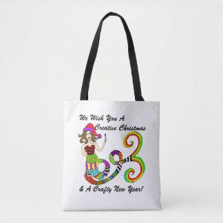 Bolsa Tote Nós desejamos-lhe um Natal criativo… Sereia