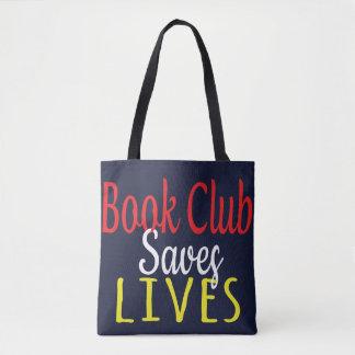 Bolsa Tote O clube de leitura salvar a sacola das vidas