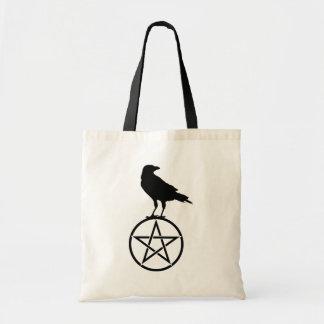 Bolsa Tote O Pentacle e o corvo
