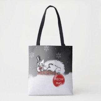 Bolsa Tote O senhor Gato mostra seus desejos do Natal!