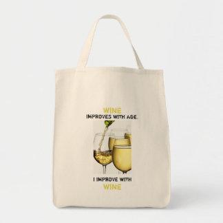 Bolsa Tote O vinho melhora com a fotografia da idade