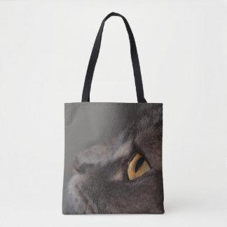 Bolsa Tote Olho-Macro do gato por Shirley Taylor