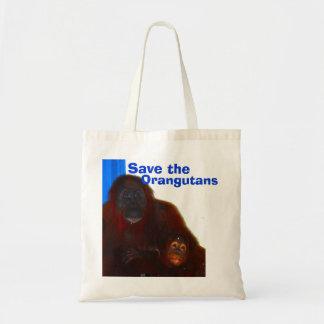 Bolsa Tote Os orangotango serem de mãe e bebê