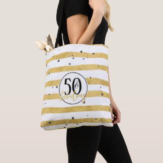 Bolsa Tote Ouro cinqüênta & sacola fabulosa dos confetes