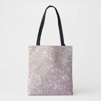 Bolsa Tote Ouro feminino do rosa do rosa do brilho por todo o