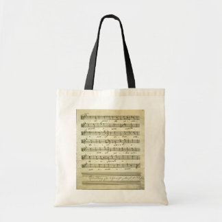 Bolsa Tote Partitura do vintage, contagem musical antiga 1810